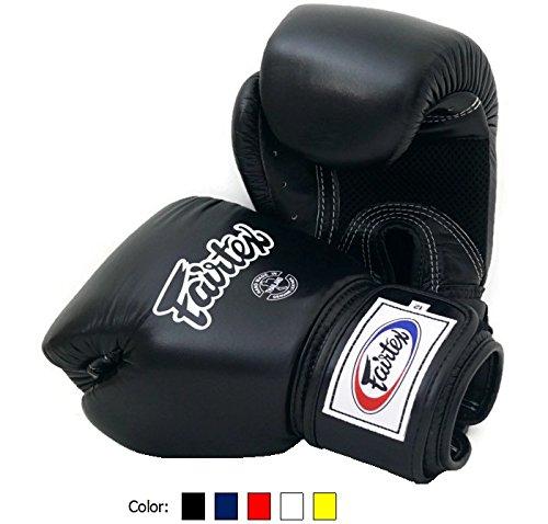 fairtex-muay-thai-boxe-guanti-bgv1-br-traspirante-colore-nero-blu-rosso-bianco-taglia-10-12-14-e-16-