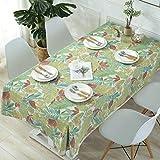 LLY Home Dining Tablecloth Rainforest Print Restaurant Hotel Meeting Tablecloth Mesa de café Mantel, 120 * 160