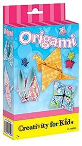 Creativity for Kids Faber-Castell Origami Mini Kit - Kits de Manualidades para niños (Papel de Color, Rotulador, Brillante, Chica