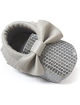 JL bebé niñas suela suave borla Bowknots sintética zapatos de piel Mocasín