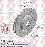 ZIMMERMANN 400.3664.52 Bremsscheibe Scheibenbremsen, Bremsscheiben (x2)