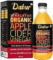 Dabur Himalayan Organic Apple Cider Vinegar with Mother of Vinegar |100% Pure| USDA Organic Certified |Raw, Un