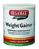 Megamax Weight Gainer Schoko 1, 5 kg mit nur 0, 7 % Fett