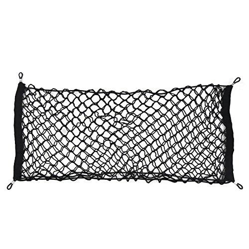 sourcing map 100x100 cm Auto Camion Bagage Coffre Toit Filet /élastique Filet Tronc 4 Crochets