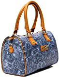 ALVIERO MARTINI Borsa Bauletto Tracolla Medio Azzurro Cuoio Donna Bag Medium Denim Leather Woman EVER117D006B
