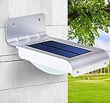 KLSD Solar Outdoor Security Light, Hohe Helligkeit 15 LED Wireless Waterproof Solarbetriebene Sicherheitslicht Flutlichter mit einzigartigen Reflektor für die Wand, 3 Modi einstellbar, Tor, Patio, Hof, Garten, Auffahrt