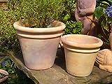 Blumentopf echt Terrakotta 30 cm , Blumenkübel für Garten und Wohnung Terracotta ........... kein Kunststoff, Blumen