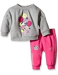adidas INF DY MIN CS S - Chándal para niños, color gris / negro / rojo, talla 62
