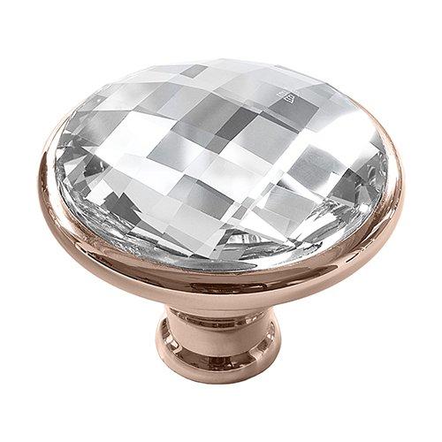 Swarovski-Zugknopf, klare Kristalle, 711C, metall, rose gold, L (Kristall-gold-door Knob)