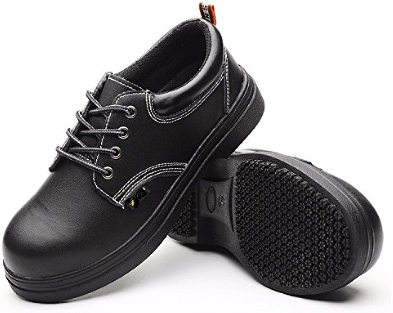 Los hombres zapatos de cuero impermeable y transpirable impermeable cocina hotel, zapatos, zapatos de Chef,Cuarenta...