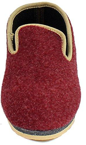 Pantoffelmann® Niedertreter Hausschuhe in 3 Farben versch Größen Unisex Erwachsene Rot