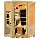Artsauna Infrarotkabine Aalborg mit Triplex-Heizsystem | 2 Personen | Hemlock Holz | 120 x 120 cm | Infrarotsauna Infrarot Wärmekabine Sauna Kabine