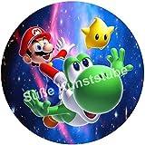 Tortenaufleger Super Mario2 / 20 cm Ø/Lieferung 2 bis 5 Werktage