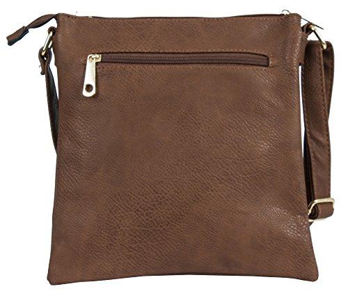 Big Handbag Shop, Borsa a mano donna Design 2 - Navy & Grey Bow