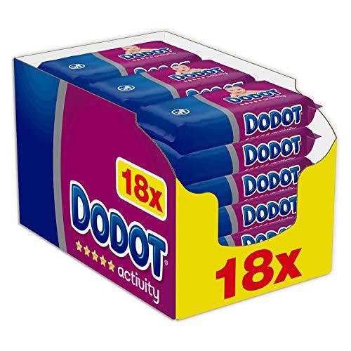 Dodot Activity - Toallitas para bebé, 18 paquetes de unidades, total de 972