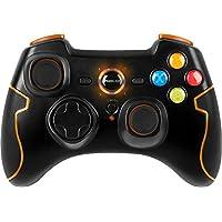 Speedlink Gamepad für PC / Computer und PS3 - Torid Gaming Controller Limited Edition kabellos (8m Reichweite, 2,4 GHz Funktechnik - zuschaltbare Turbofeuerfunktion - volle Kompatibilität durch Dual-Mode-Technologie) orange/schwarz