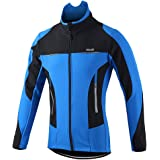 Lixada Men's Cycling Jacket Water Resistant Long Sleeve Winter Thermal Jacket Breathable Riding Sportwear Outdoor