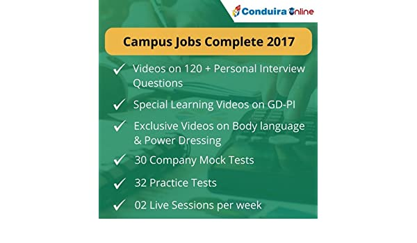 Conduira campus jobs test series 3 months package (voucher.