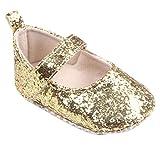 bobo4818 Kleinkind Mädchen weiche Sohle Krippe Schuhe Pailletten Sneaker Baby Schuhe (11, Gold)