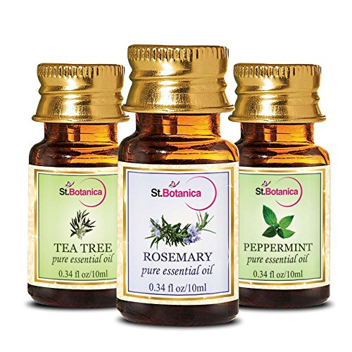 StBotanica Tea Tree Oil + Rosemary + Peppermint Pure Essential Oil