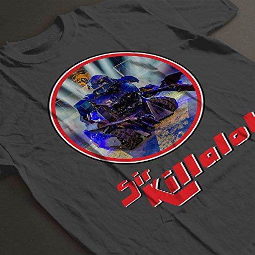 ... Robot Wars Sir Killalot Retro Frame Women's T-Shirt Charcoal ...
