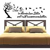Wandtattoo - Clickzilla - A152 - Liebe ist in stürmischen Zeiten...