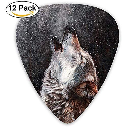 Howl Of The Wolf Custom Plektren für elektrische Akustik Best Stuffer Geschenke (12er Pack)
