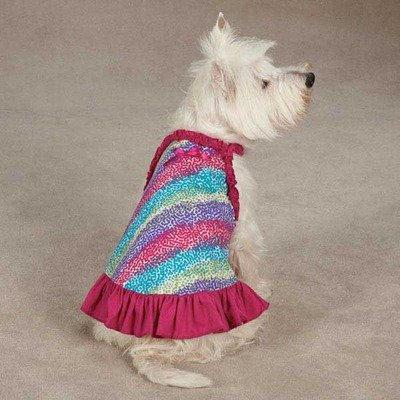 East Side Collection ZM2950 10 81 Confetti Dress for Dogs, X-Small, Raspberry by East Side Collection (English manual) -