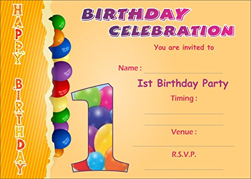 Askprints Birthday Invitation Card On Metallic Sheet (Pack Of 50 Cards) Nic-001