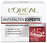 L'Oreal Paris Gesichtscreme Anti-Falten Experte Feuchtigkeitspflege 45+, 1er Pack (1 x 50ml)