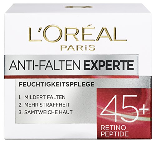 Loreal Anti-falten (L'Oreal Paris Gesichtscreme Anti-Falten Experte Feuchtigkeitspflege 45+, 1er Pack (1 x 50ml))