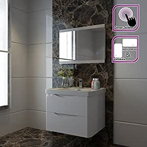 badspiegel lichtspiegel led spiegel wandspiegel 50 x 70cm. Black Bedroom Furniture Sets. Home Design Ideas