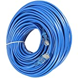 Link-e ® : Cable reseau bleu ethernet RJ45 50m CAT.6 qualité pro, connexion internet Box, TV, PC, routeur, switch, consoles...
