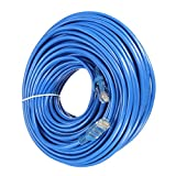Link-e : Cable reseau bleu ethernet RJ45 50m CAT.6 qualité pro, connexion internet Box, TV, PC, routeur, switch, consoles...