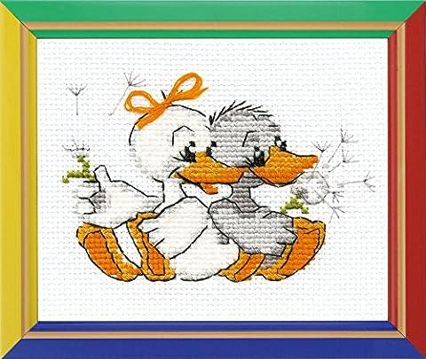 Happy Bee Cross Stitch Kits for Beginners Grandma's merry geese