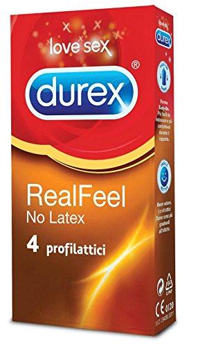 Durex Real Feel Preservativi, 4 Pezzi - [pacco da 6]
