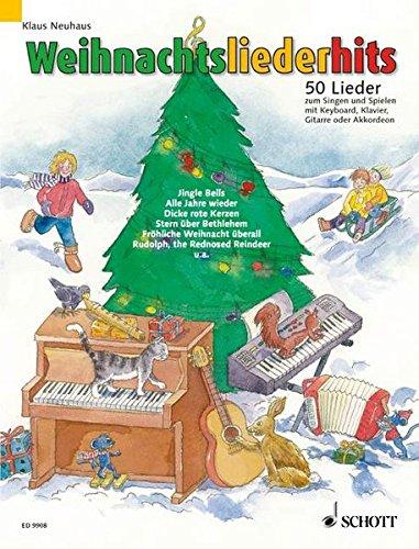 Weihnachtsliederhits: 50 Lieder zum Singen und Spielen. Gesang und Klavier, Keyboard, Akkordeon oder Gitarre (1 Melodie-Instrument ad libitum). Liederheft.