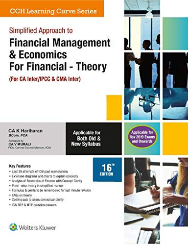 Simplified Approach to Financial Management Theory, (For CA-IPCC/CWA inter)