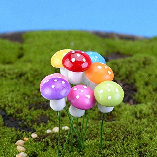 sevenmye-10-pcs-mushroom-garden-ornament-miniature-plant-pot-fairy-diy-dollhouse-home-garden-decor