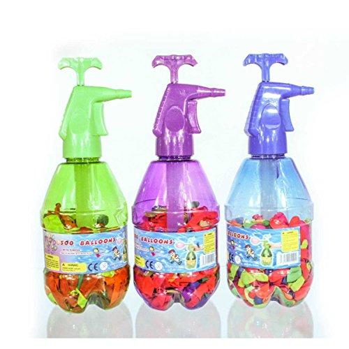 Wasserbomben Pumpe XXL Füllflasche mit 200 Wasserbomben Wasser Ballons Badespaß