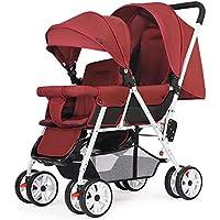 JCOCO Cochecito Doble, Carrito de bebé Doble Sentado hacia atrás y adelante Carro de bebé