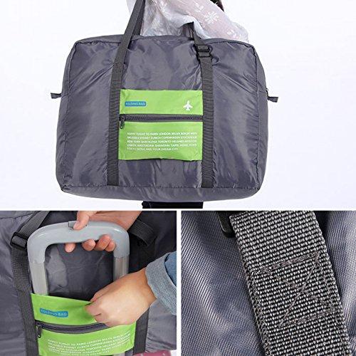 Milya Boardingtasche Reisetasche Handtasche Schultertasche/Umhängetasche die wasserfeste Nylontasche Kleidung Aufbewahrungstasche für Reise beweglicher Beutel Grün