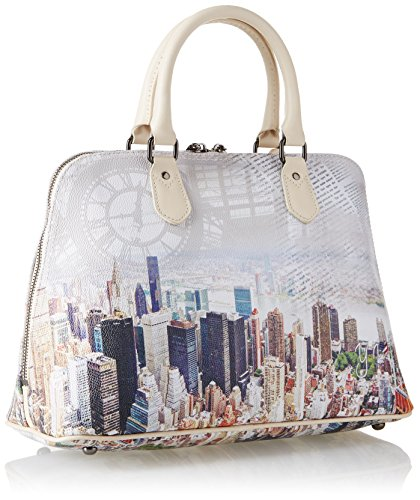 Y NOT? H-325, sac à main Multicolore (Beige Manhattan)