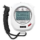 Starnearby Cronometro Digital Portatile Cronometri Sportivo, Stopwatch Multi-Funzione Cronometro Timer Arbitro per Palestra Sveglia Calcio Sport