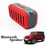 WEANGLER Jeep Style Water and dust Resistance, Hi Bass and Inbuilt Call Answering Feature Bluetooth Speaker (Red)