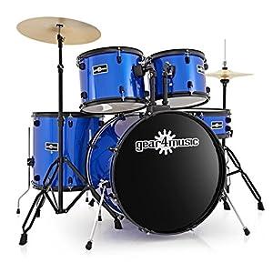 BDK-1 Full Size Starter Drum Kit by Gear4music Blue