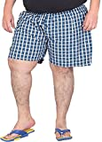 Xmex Men's Cotton Shorts (BXR-BLUE2, Blu...