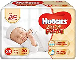 Huggies Ultra Soft XS Size Diaper Pants (20 Count)