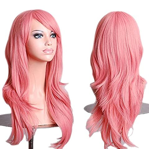 S-noilite New 23 Cosplay Wavy Wigs Full Head Pink Hair Wig Anime Cosplay/Costume Party Fancy Dress by S-noilite