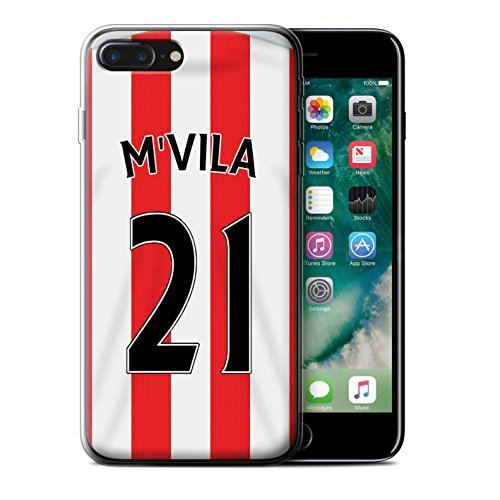 Officiel Sunderland AFC Coque / Etui Gel TPU pour Apple iPhone 7 Plus / Yedlin Design / SAFC Maillot Domicile 15/16 Collection M'Vila